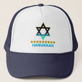 Estrela de David Menorah de Hanukkah Boné