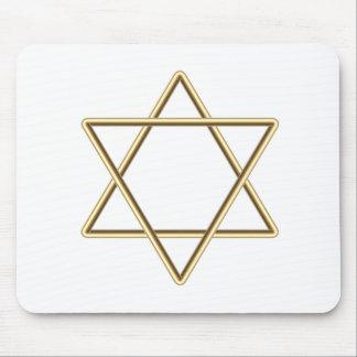 Estrela de David para o bar Mitzvah ou o bastão Mi Mouse Pads