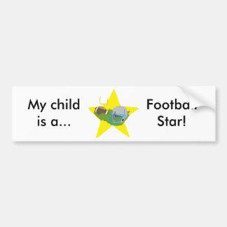 Estrela de futebol!  Customizável: Adesivo Para Carro