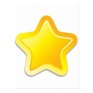 Estrela de Kawaii Cartão Postal
