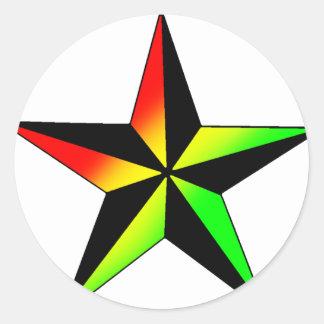 Estrela de Rasta Adesivo