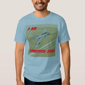 Estrela de tiro de F 80 Camisetas