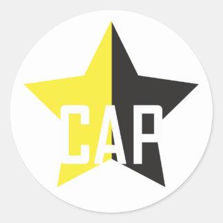 Estrela do Anarcho-Capitalista Adesivo