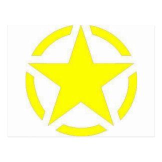 estrela do exército cartão postal