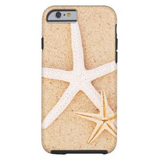 Estrela do mar dois em uma praia capa tough para iPhone 6