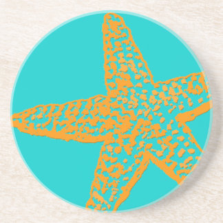 Estrela do mar/laranja de PixDezines+azul Porta Copos De Arenito