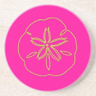 Estrela do mar/limão de PixDezines Sanddollar+rosa Porta Copos De Arenito
