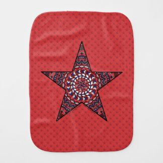 Estrela do pano do Burp da independência Paninho Para Bebês
