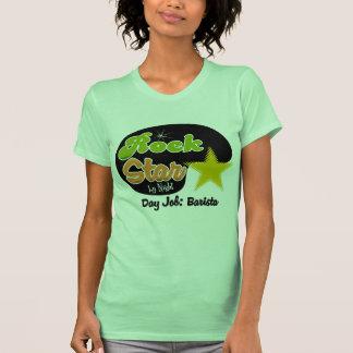 Estrela do rock em a noite - trabalho Barista do d T-shirts