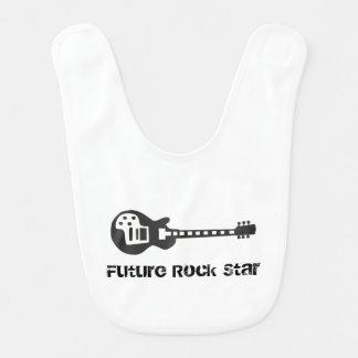 Estrela do rock futura babadores para bebes