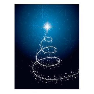 Estrela e flocos de neve do Natal Cartões Postais