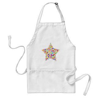 Estrela mundial do arco-íris avental