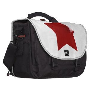 Estrela vermelha chinesa - saco da casca bolsa para laptop