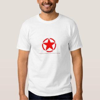 Estrela vermelha t-shirt