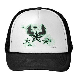 Estrelas & asas verdes de Konkave Boné