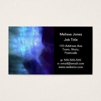 Estrelas azuis no espaço cartão de visitas