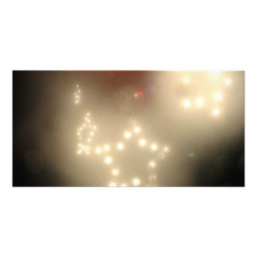 Estrelas brancas cartao com foto personalizado