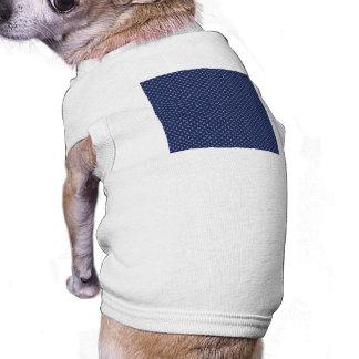 Estrelas brancas do botão no azul profundo camisa sem mangas para cachorro