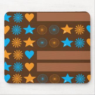 estrelas, corações, flores mouse pads