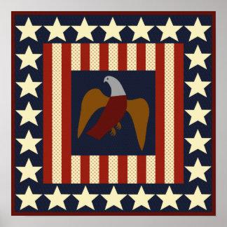 Estrelas da era da guerra civil e poster do