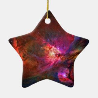 Estrelas da nebulosa e do trapézio de Orion Ornamento De Cerâmica Estrela
