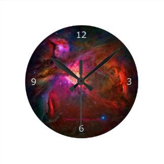 Estrelas da nebulosa e do trapézio de Orion Relógio Para Parede
