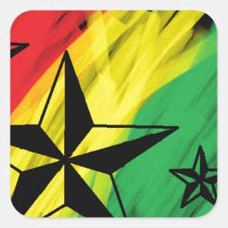 estrelas da reggae adesivo quadrado