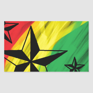 estrelas da reggae adesivo retangular