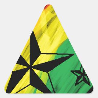 estrelas da reggae adesivo triangular