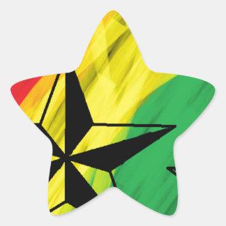 estrelas da reggae adesivos em forma de estrelas