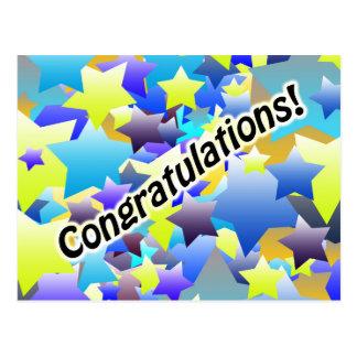 Estrelas das felicitações cartão postal