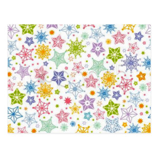 estrelas de COM do padrão Cartão Postal