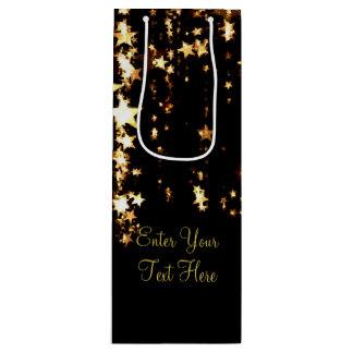 Estrelas de oscilação do ouro sacola para vinho