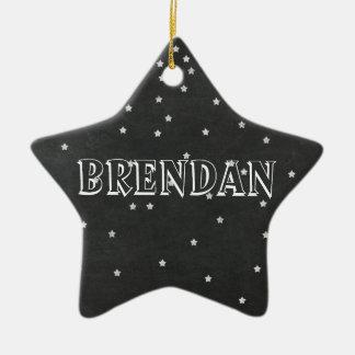 Estrelas do quadro com o ornamento do nome & do