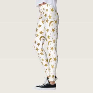 Estrelas e luas leggings