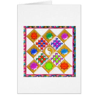 Estrelas e ornamento festivos cartões