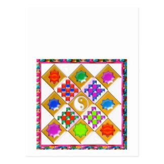 Estrelas e ornamento festivos cartao postal