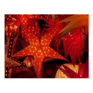 Estrelas festivas do Natal Cartoes Postais