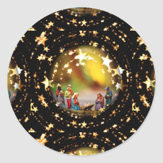 Estrelas infantis de Jesus da Virgem Maria da ucha Adesivo