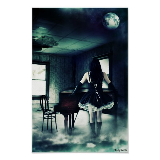 Estrelas no sótão pelo azevinho Siek Posters