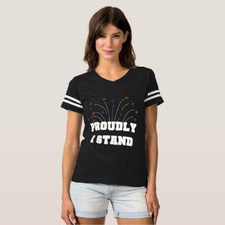 Estrelas orgulhosa eu estou o t-shirt escuro