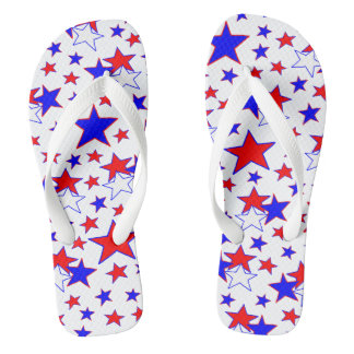 Estrelas patrióticas chinelos