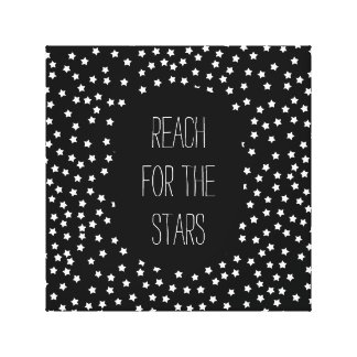 Estrelas preto e branco impressão em tela