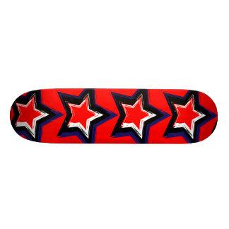 Estrelas vermelhas shape de skate 18,4cm