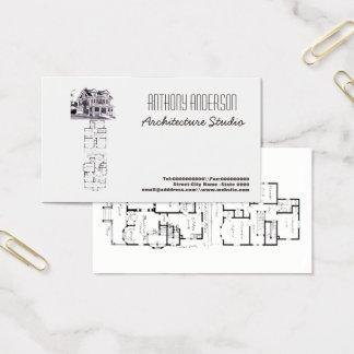Estúdio da arquitetura cartão de visitas