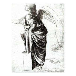 Estudo de um anjo cartão postal