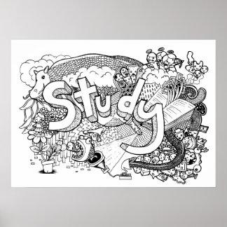 Estudo do Doodle Poster