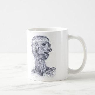 Estudo humano caneca de café