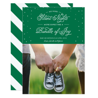 """Esverdeie de """"o cartão com fotos do feriado não convite 12.7 x 17.78cm"""
