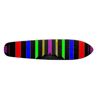 Etapa e ETAPAS: Listras coloridas da beleza Shape De Skate 20,6cm